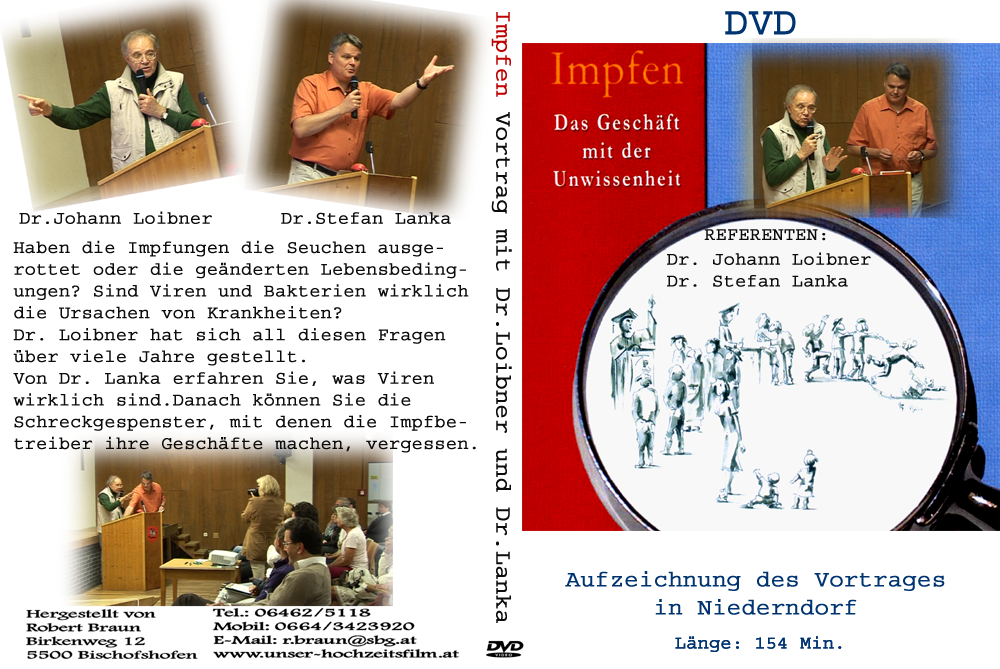 Impfen - Das Geschäft mit der Unwissenheit - Vortrag Niederndorf - DVD (2015)